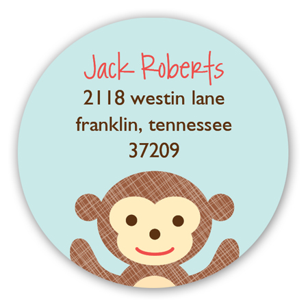Little Monkeys Climbing Round Sticker