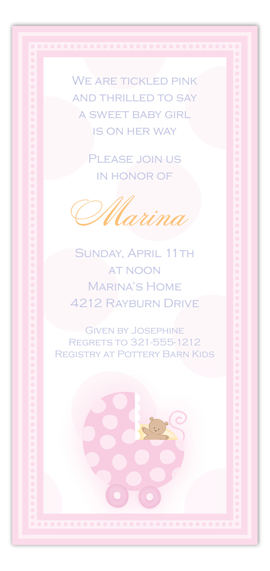 Little Pink Carriage Invitation