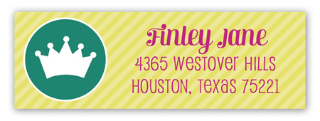 Little Princess Cupcake Address Label