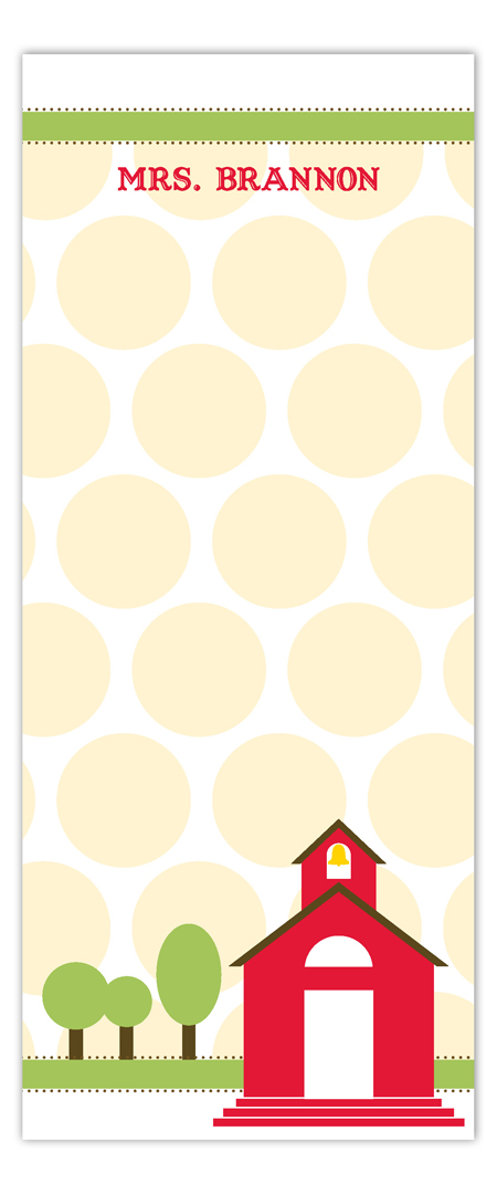 Little Red Schoolhouse Skinny Notepad