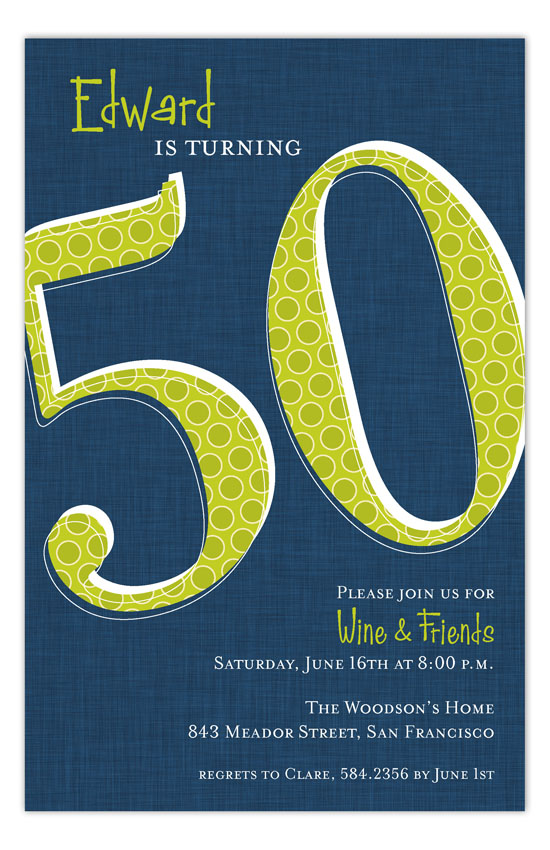 Look Who Is Fifty Invitation
