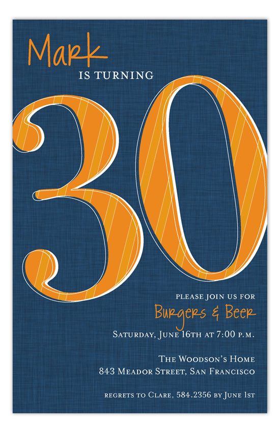 Look Who Is Thirty Invitation