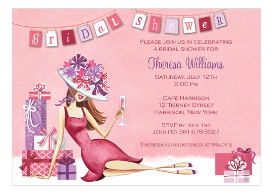Lounging Lady Invitation