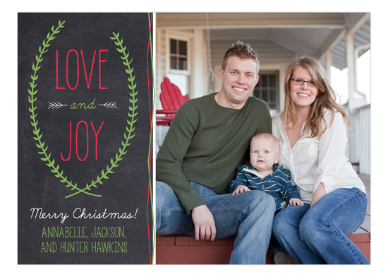 Love and Joy Chalkboard Photo Card