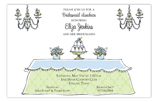Lovely Bridal Luncheon Invitation