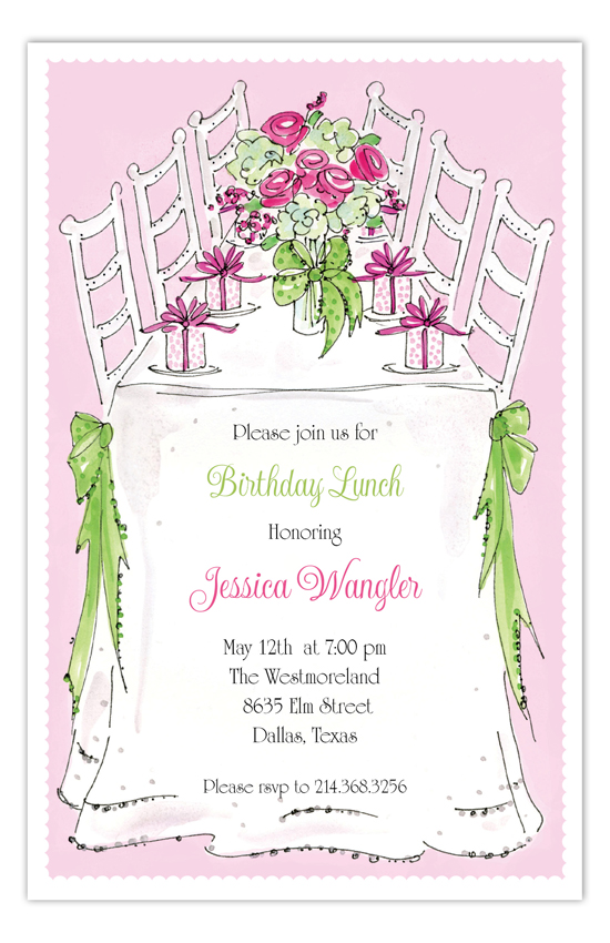 Lovely Luncheon Invitation