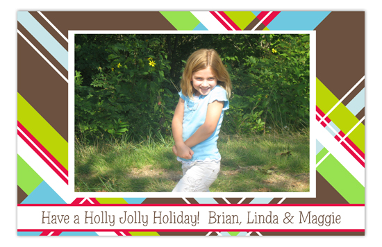 Mad About Plaid Brown Photo Card
