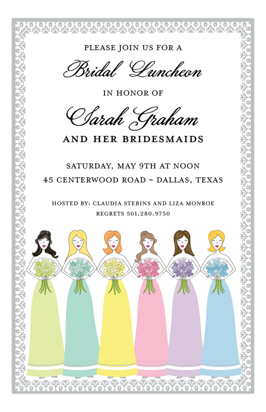 Maids In Many Colors Invitation
