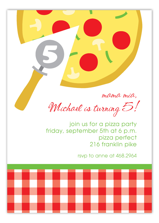 Mama Mia Pizza Invitation