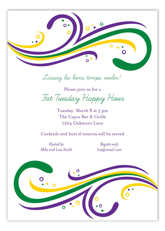 Mardi Gras Spirit Invitation