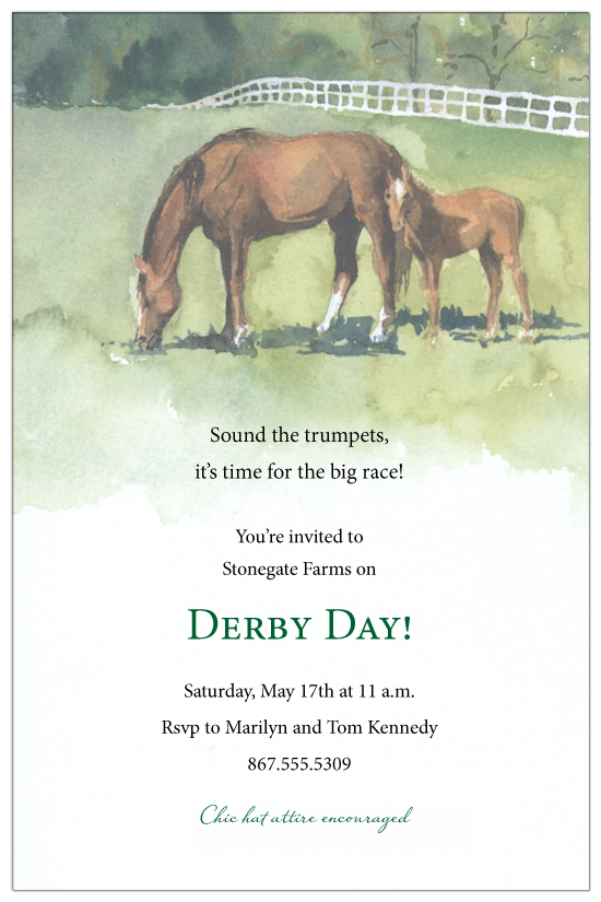 mare-and-foal-invitation-ob-3871 Kentucky Derby Invitations