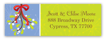 Martinis and Mistletoe Address Label