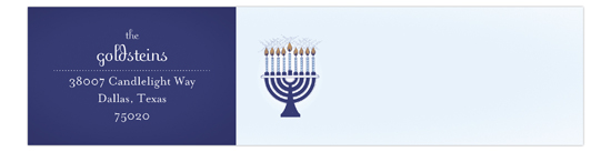Menorah Lights Envelope Wrap Address Label