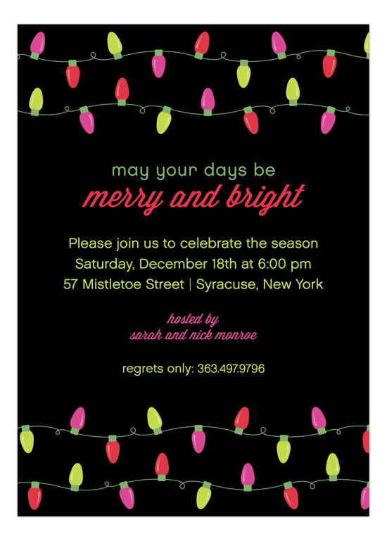 merry-bright-lights-invitation-pddd-np57hc1208 Holiday Party Invitations