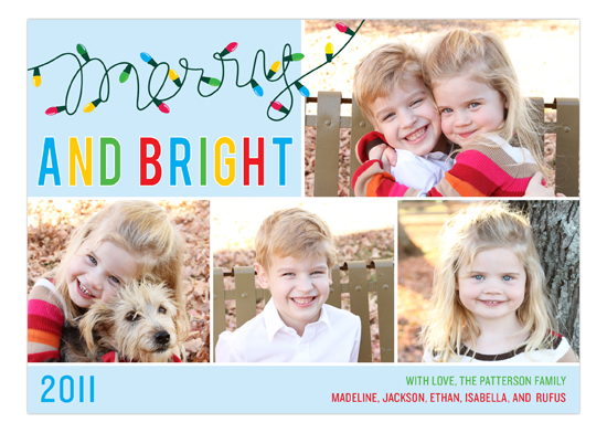 Merry Christmas Lights Photo Card