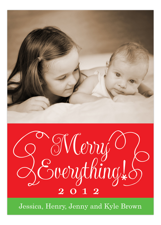 Merry Everything Custom Family Photo Cards