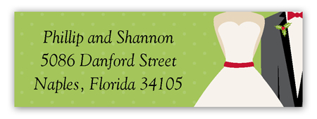 Merry Matrimony Address Label