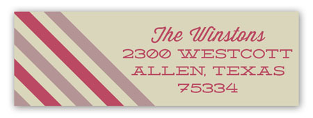 Merry Stripes Ornament Address Label