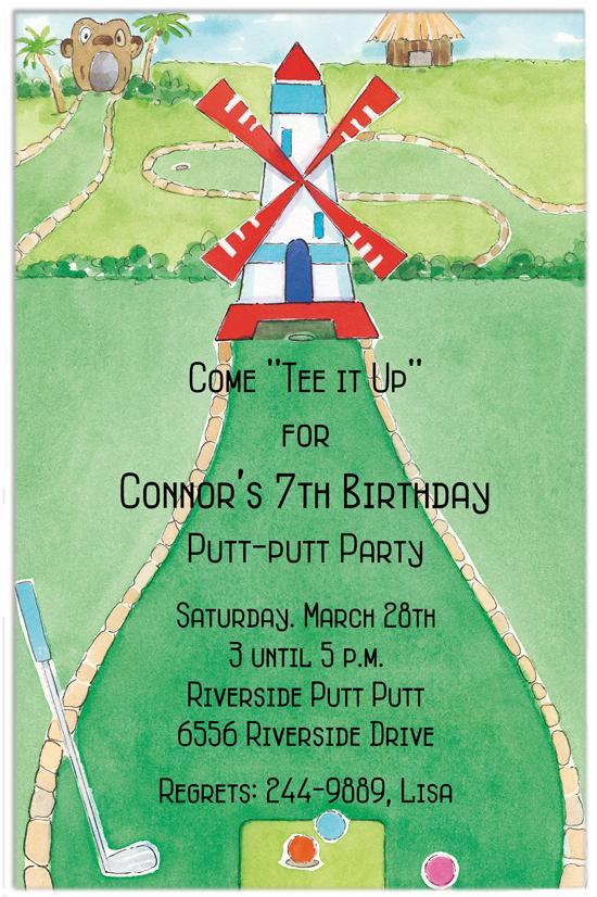 Miniature Golf Invitation – Mini Golf Birthday Party Invitations