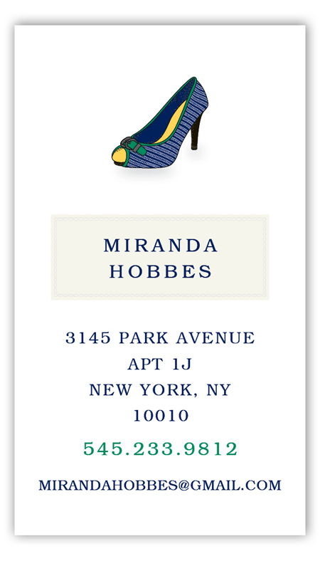 Miranda High Heel Calling Card