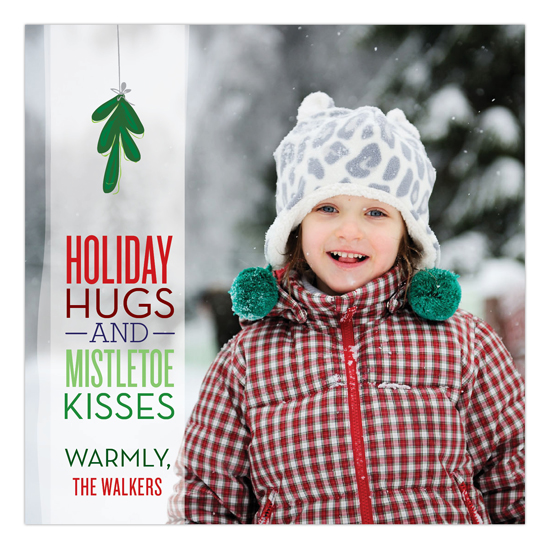 Mistletoe Kisses Photo Card
