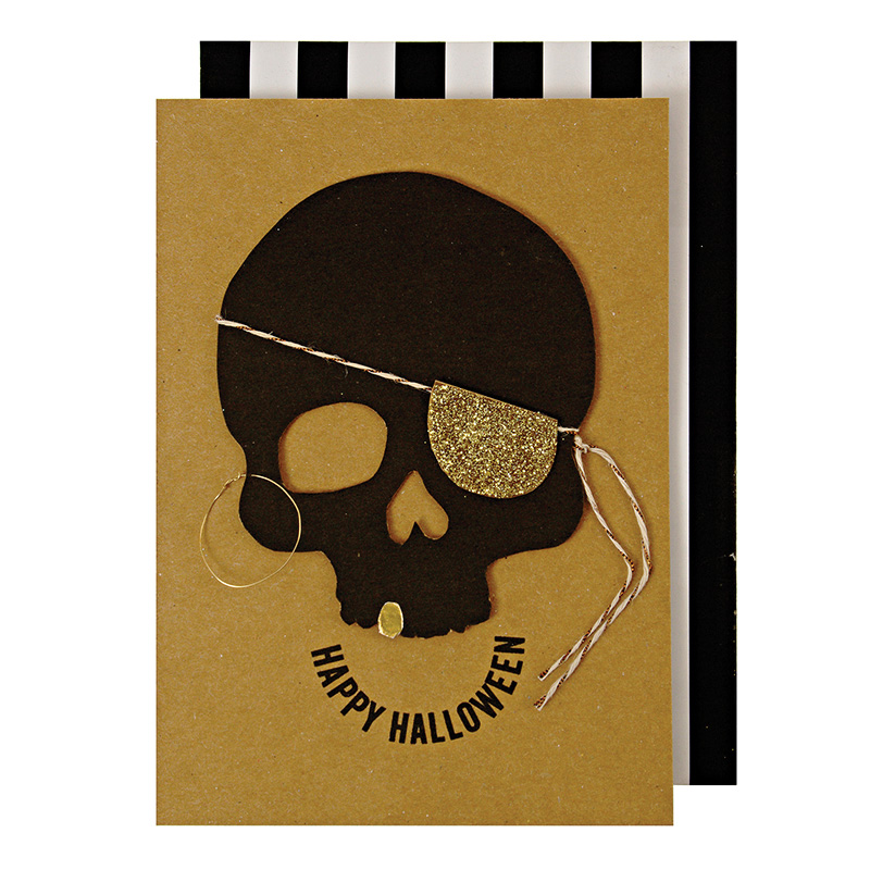Skull Halloween Greeting Cards