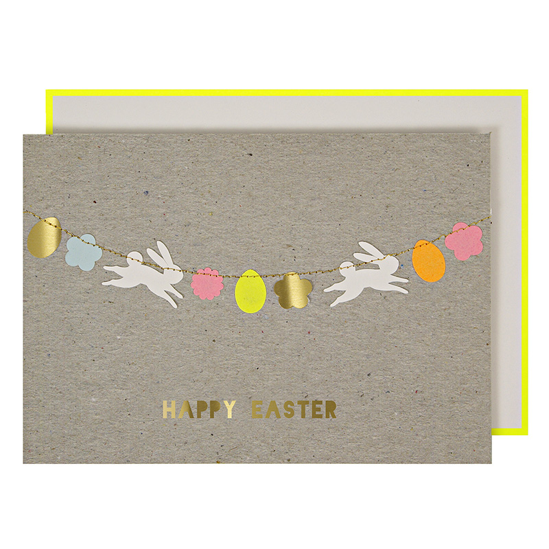 Easter Stitched Garland Greeting Card