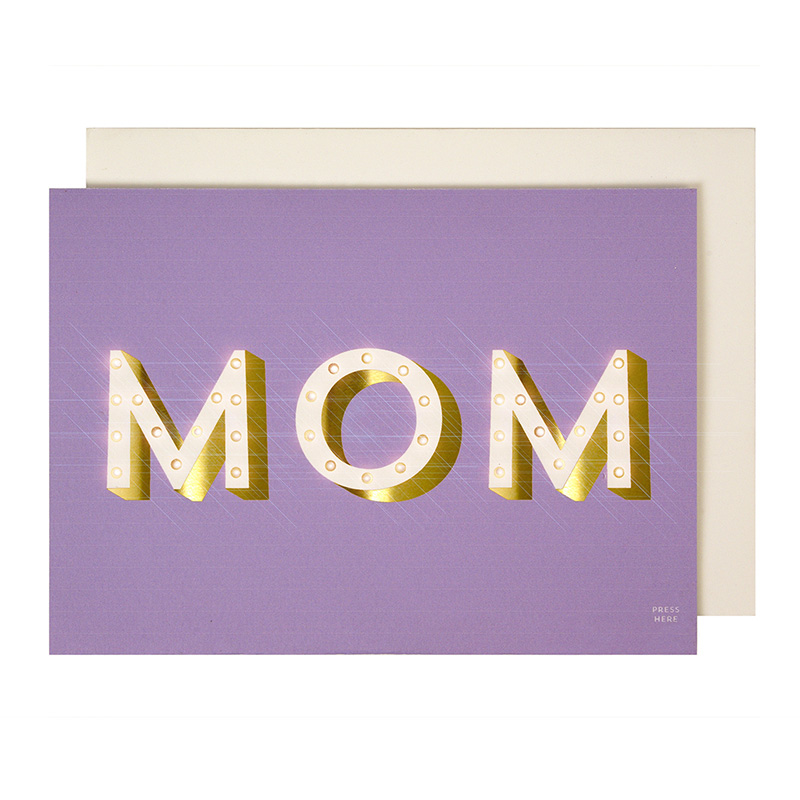 Light Up Mom Mothers Day Greeting Card