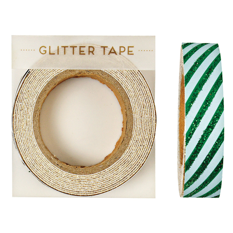 All Wrapped Up Green Stripe Christmas Tape