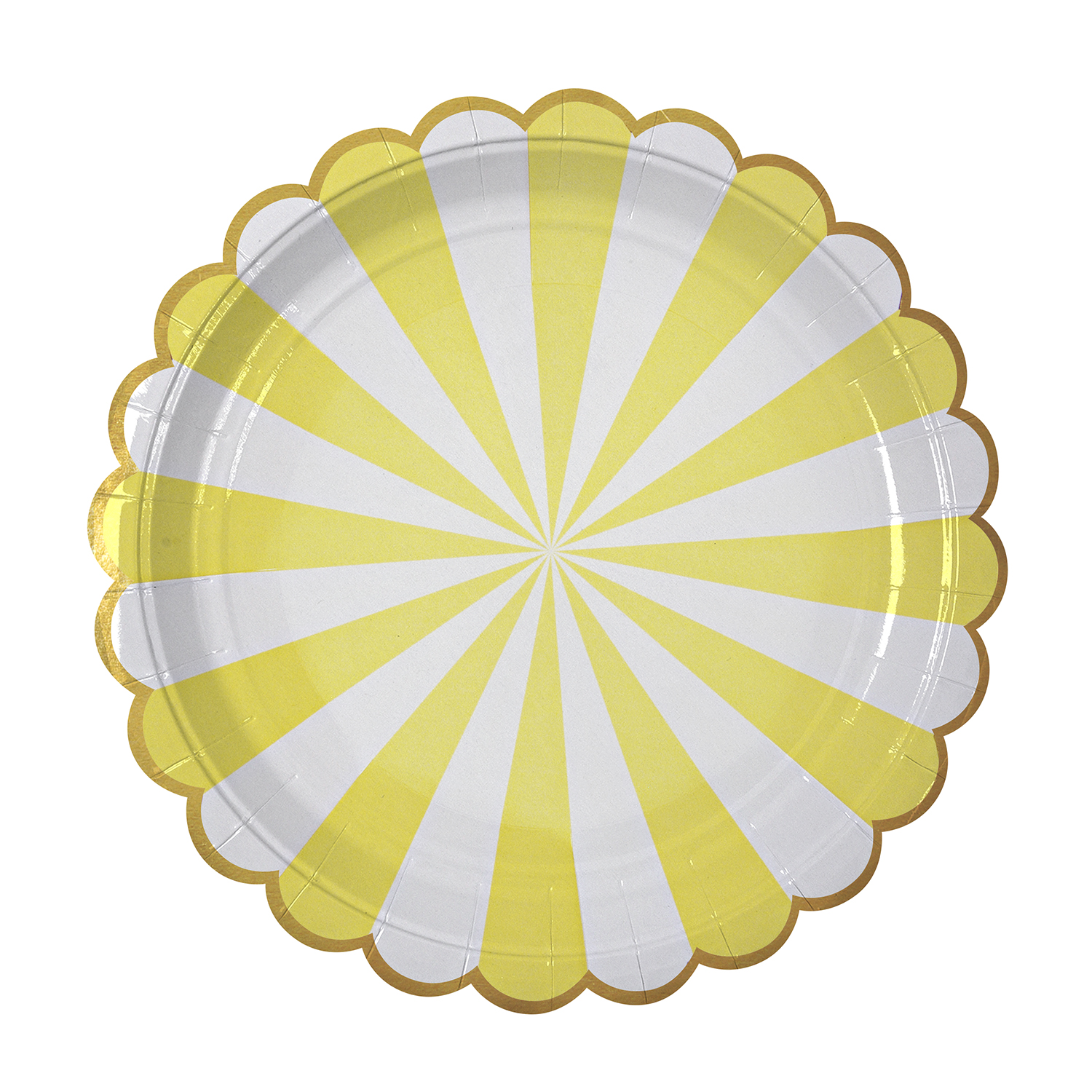 Toot Sweet Large Yellow Striped Plate