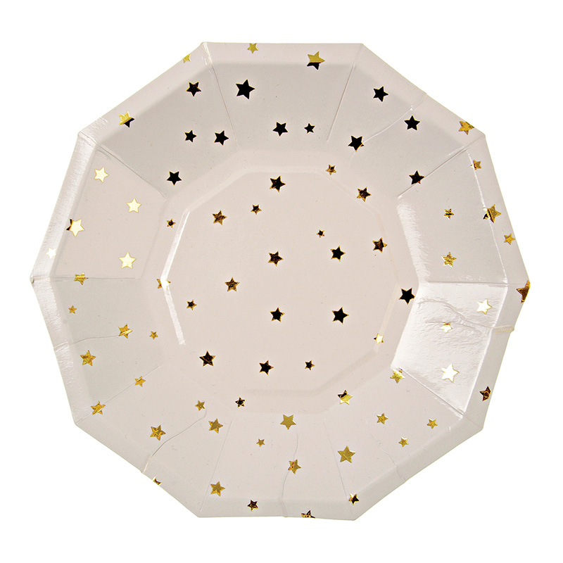 Toot Sweet Gold Stars Small Party Plates