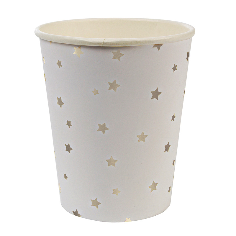 Toot Sweet Silver Star Pattern Party Cups