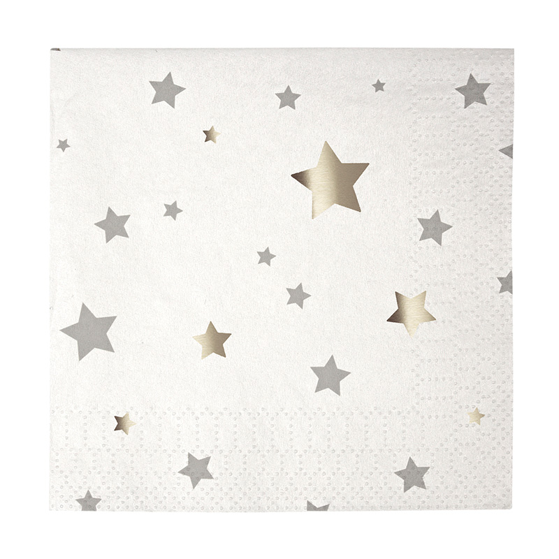 Toot Sweet Silver Star Small Party Napkins