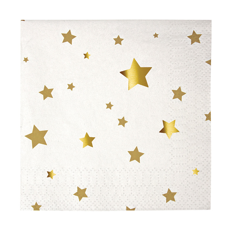 Toot Sweet Gold Star Small Party Napkins