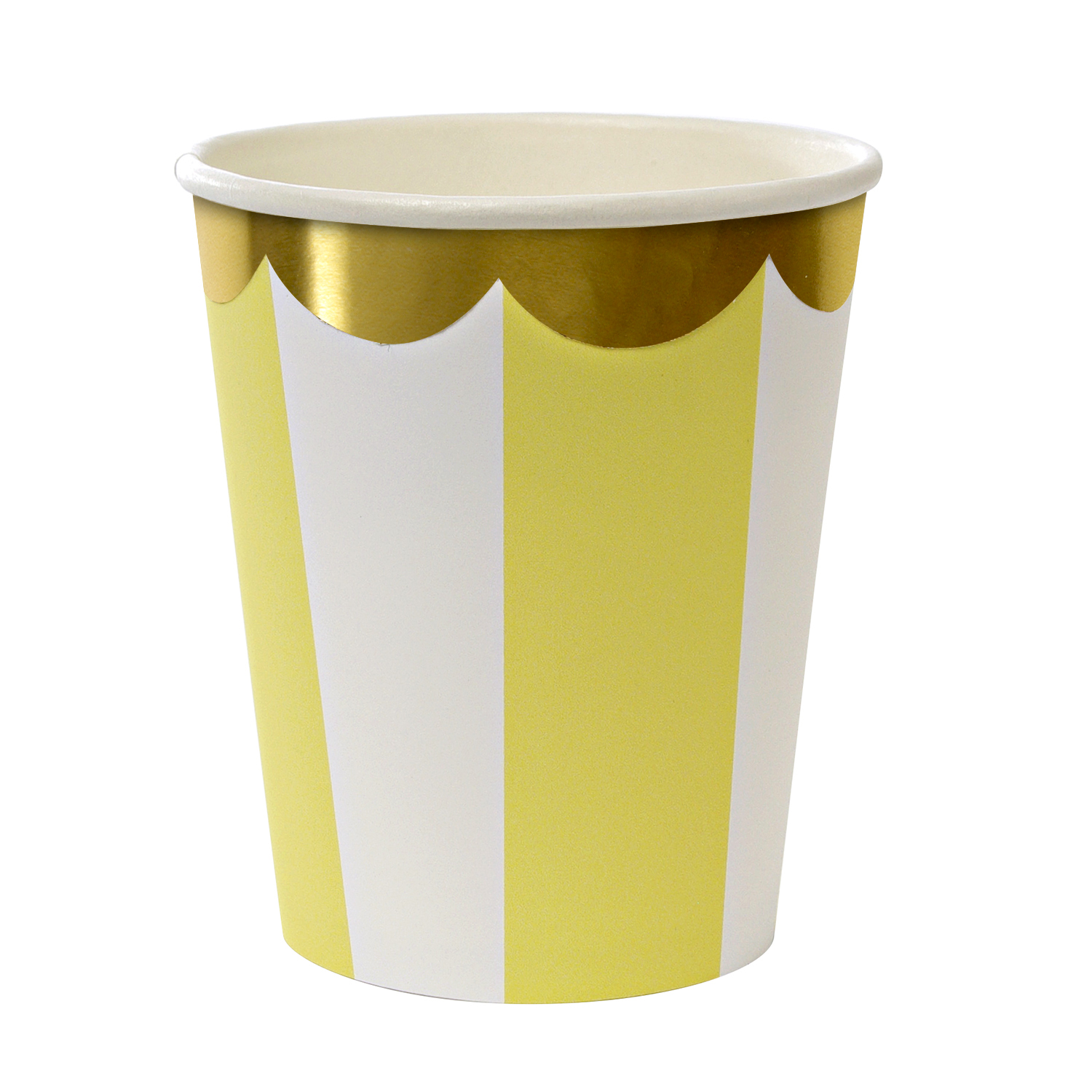 Toot Sweet Yellow Stripes Party Cups