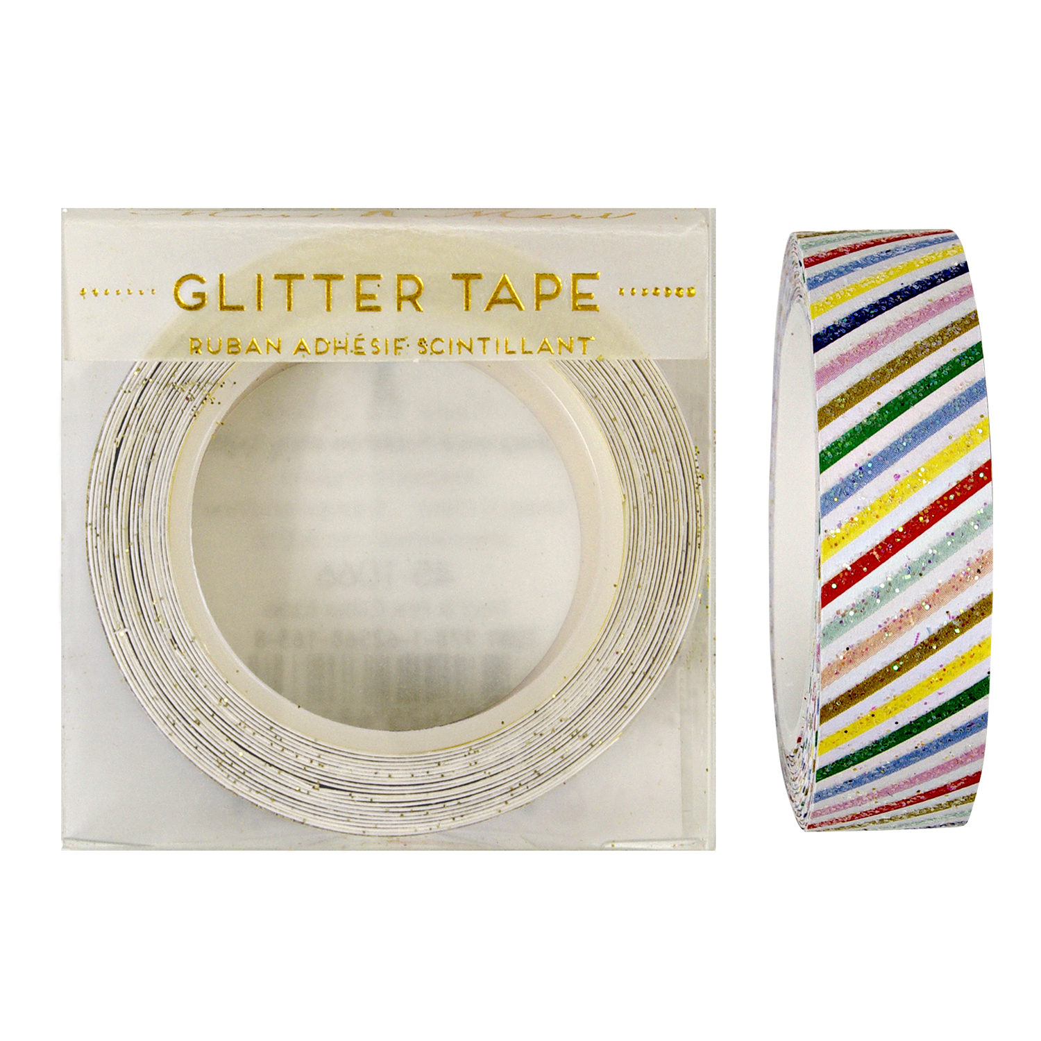 Multi Stripes Glitter Tape