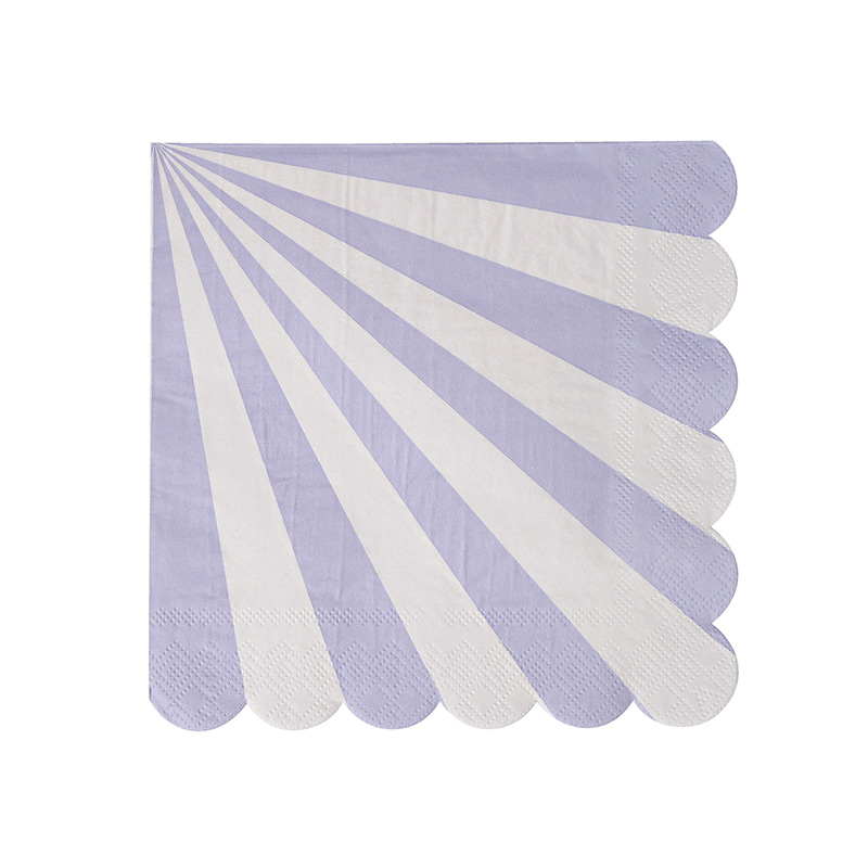 Lavender Striped Small Napkins