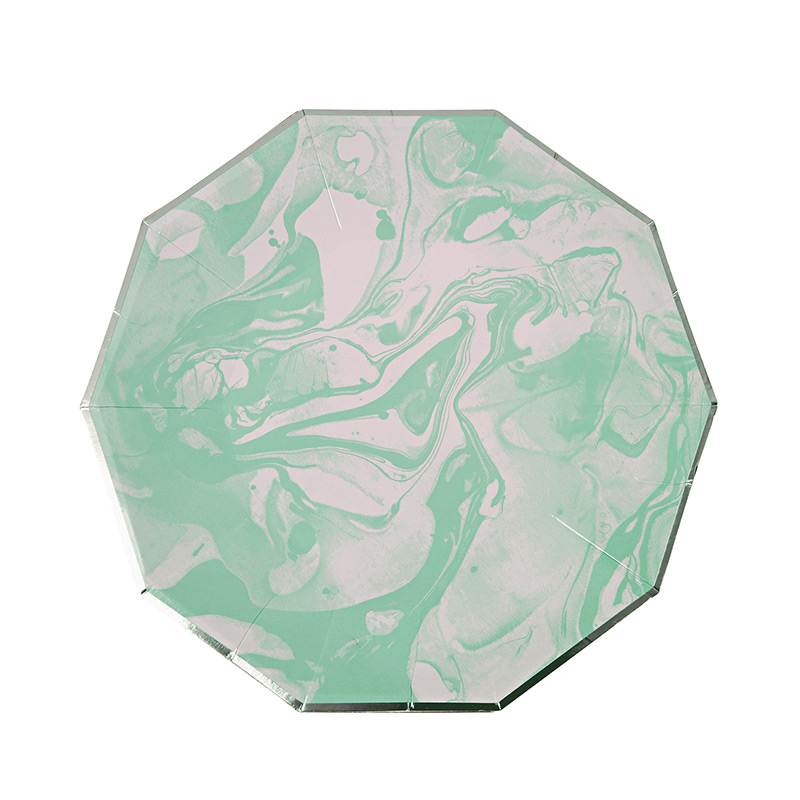 Marble Mint Pattern Small Plate