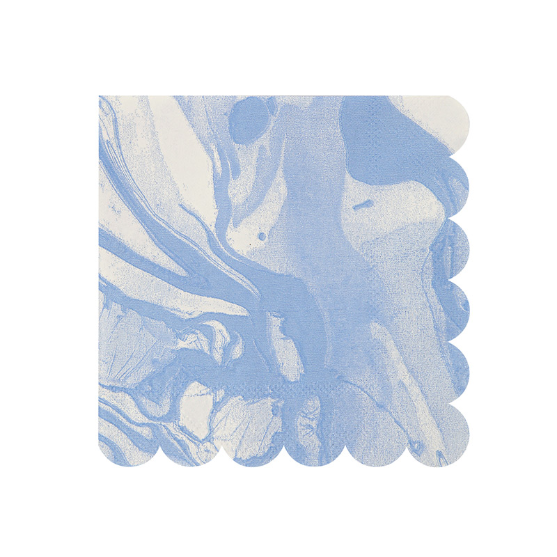 Marble Blue - Small Napkins