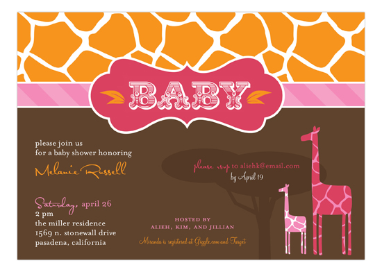 Mod Giraffe Girl Invitation
