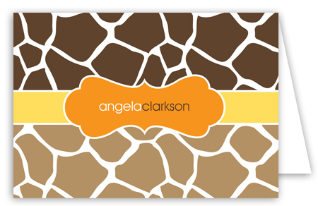 Mod Giraffe Neutral Note Card