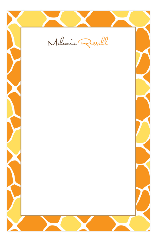 Mod Giraffe Neutral Notepad