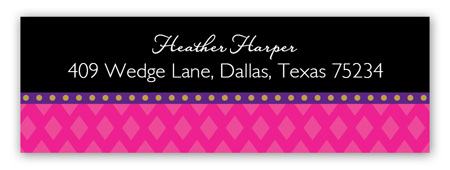 Mod Masquerade Address Label