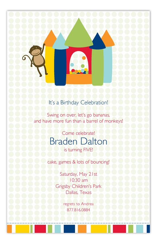 Monkey Goes Bananas Invitation
