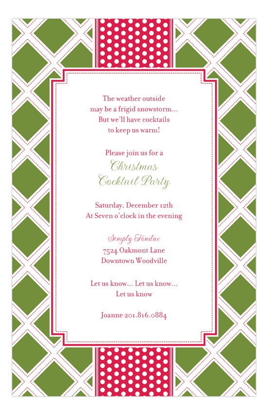 Moss Diamonds Invitation