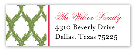 Moss Medallions Address Label