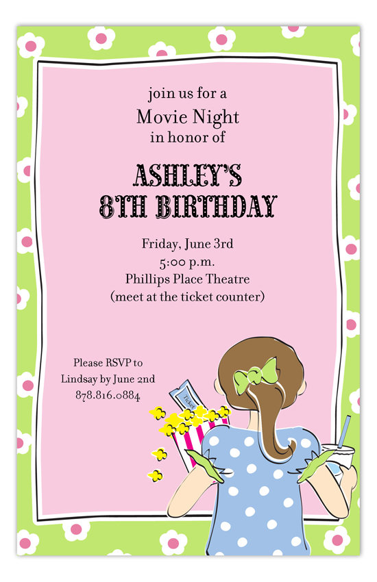 Movie Gal Invitation