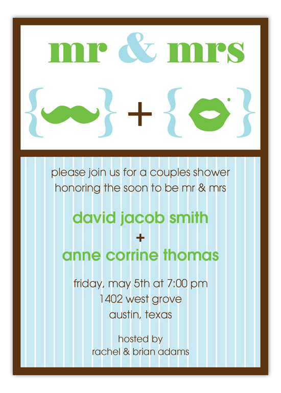 Mr and Mrs Symbols Invitation
