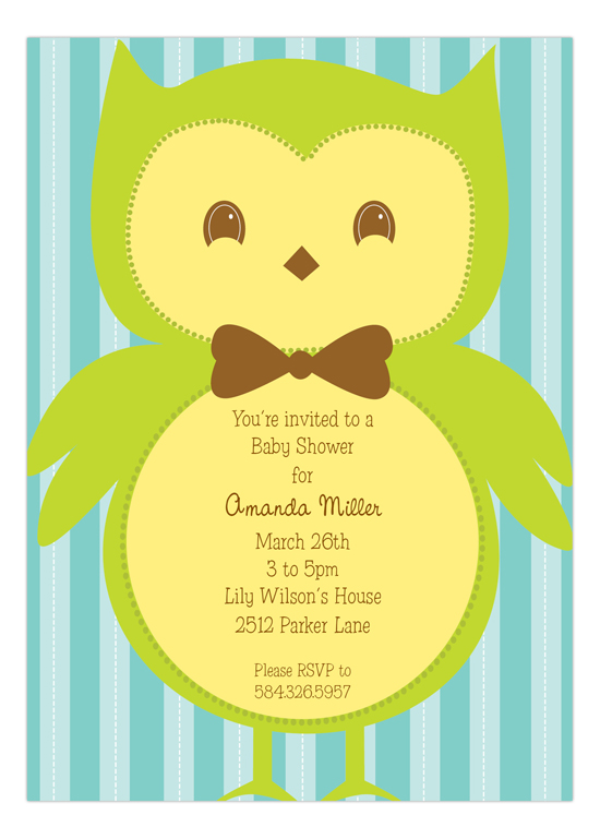 Mr. Owl Invitation