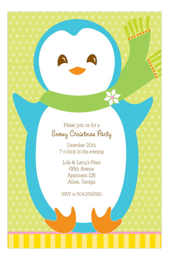 Mr. Penguin Invitation